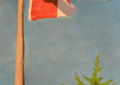 Canadian Flag Bass Lake Muskoka